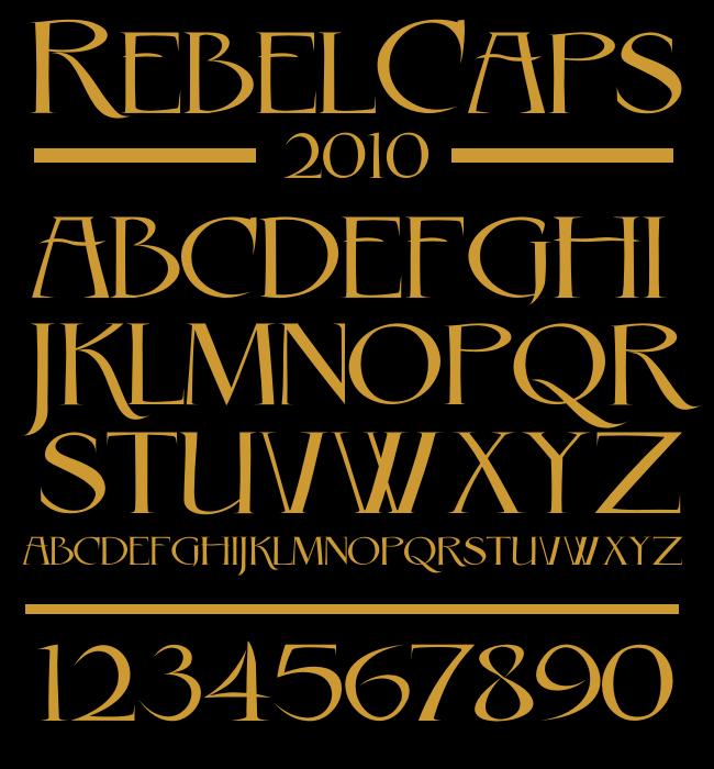 Rebel Caps Font