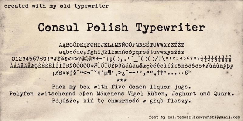 zai Consul Polish Typewriter