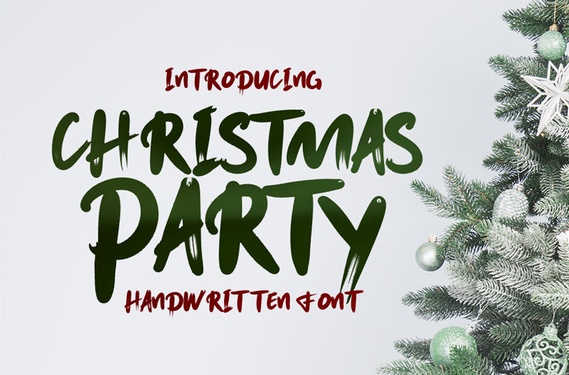 Christmas Party Font