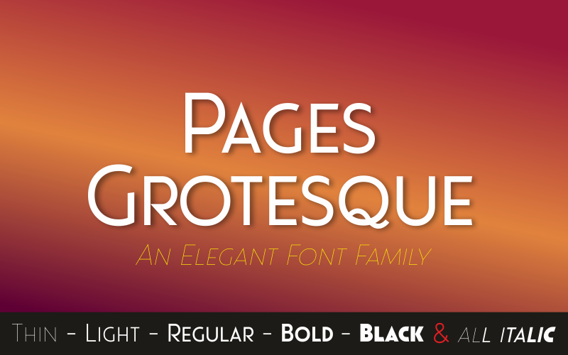 Pages Grotesque
