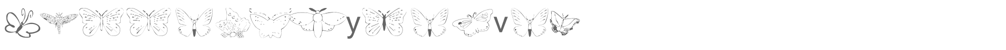 Butterfly Heaven ButterflyHeaven.ttf font preview