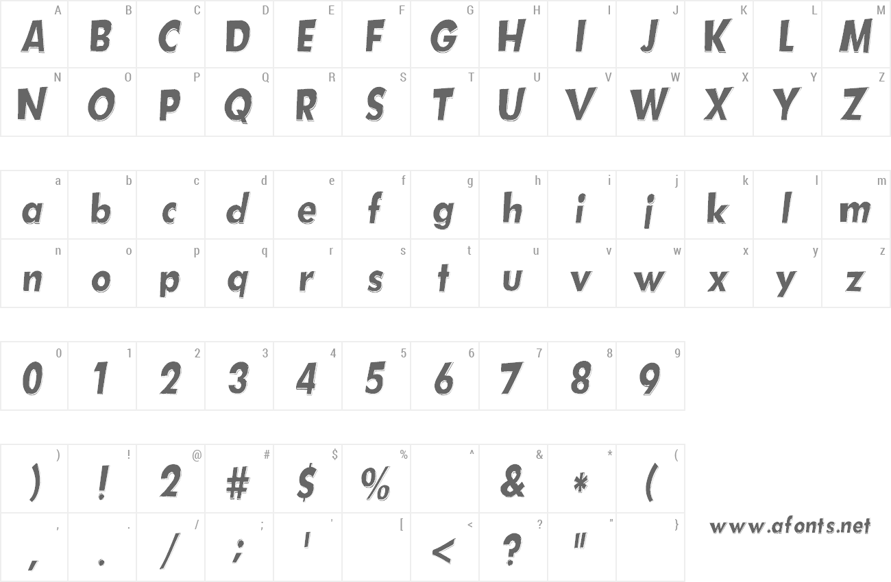 Font Hotplate preview