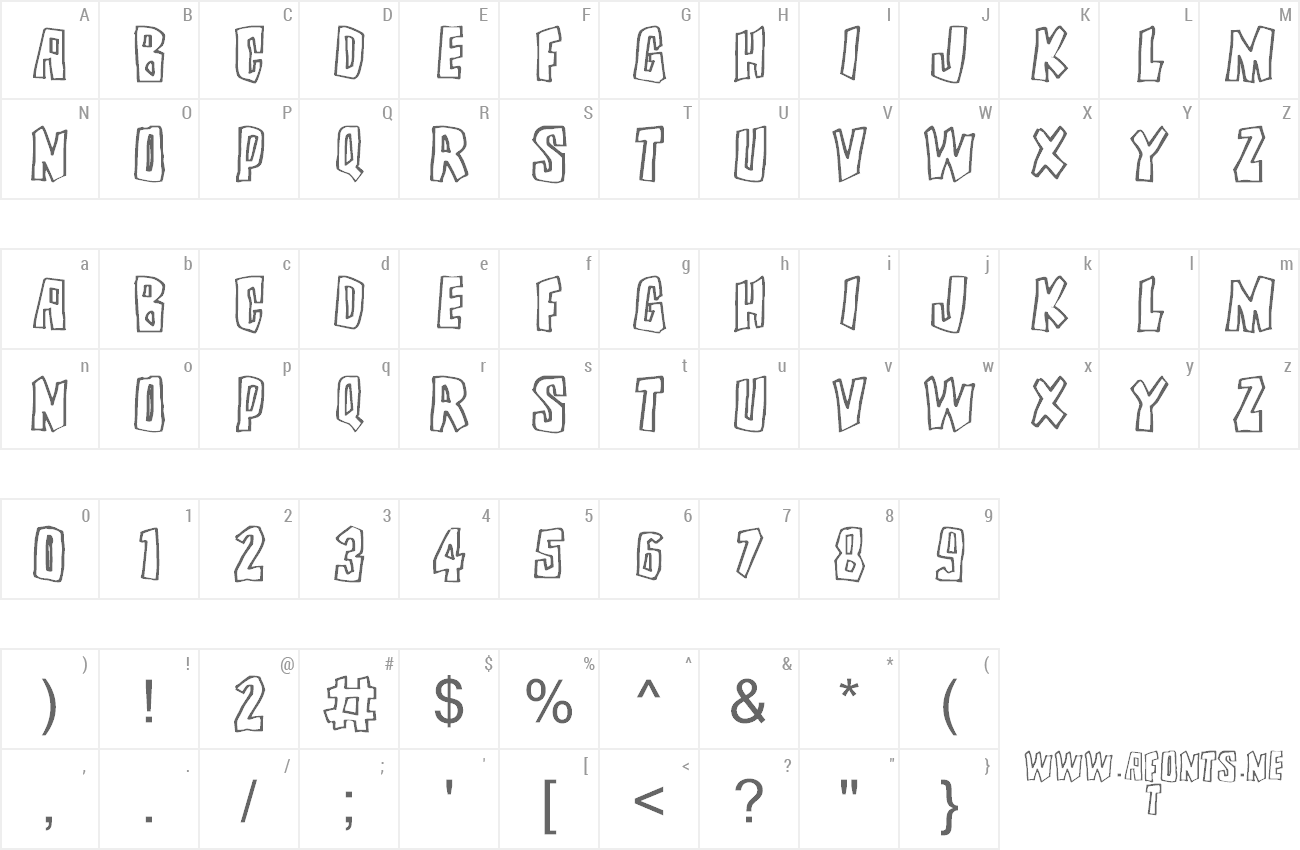 Font Brutality preview