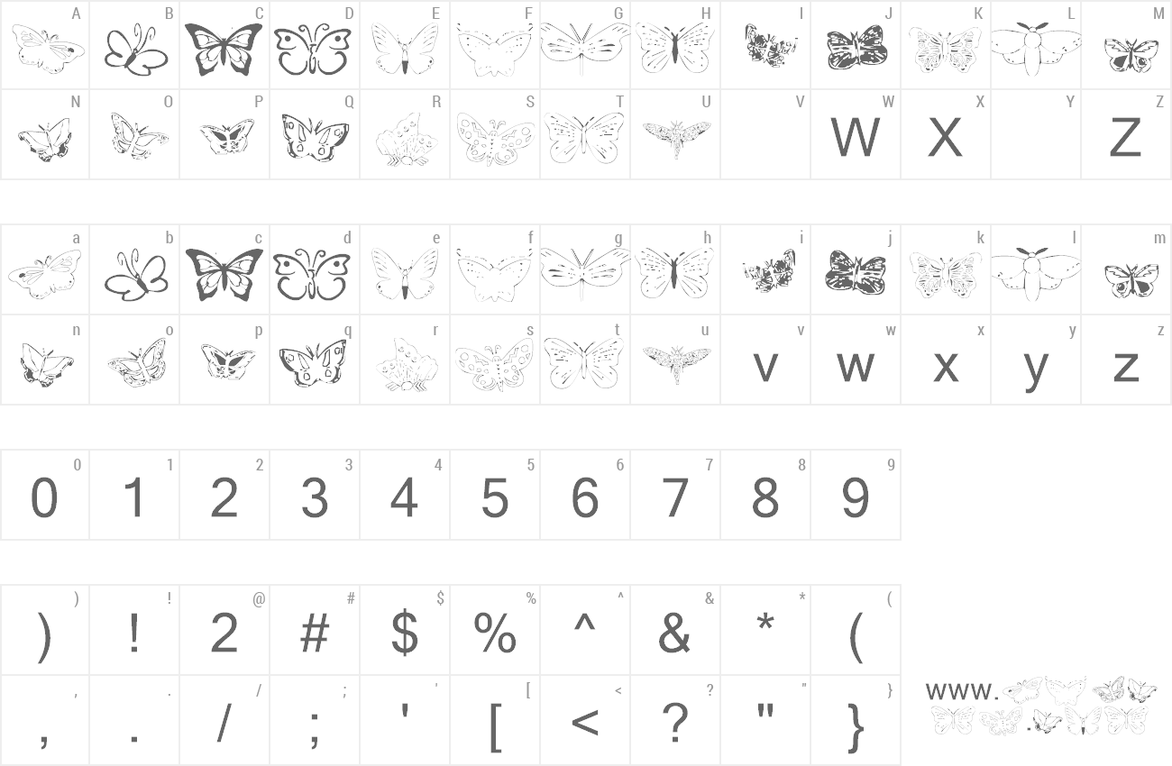 Font Butterfly Heaven preview