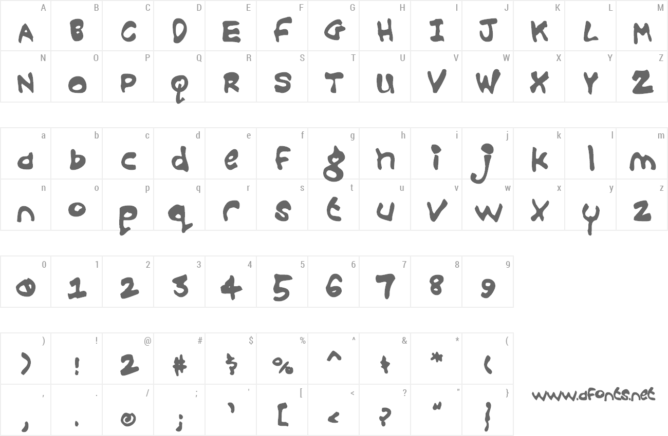 Font Croobie preview