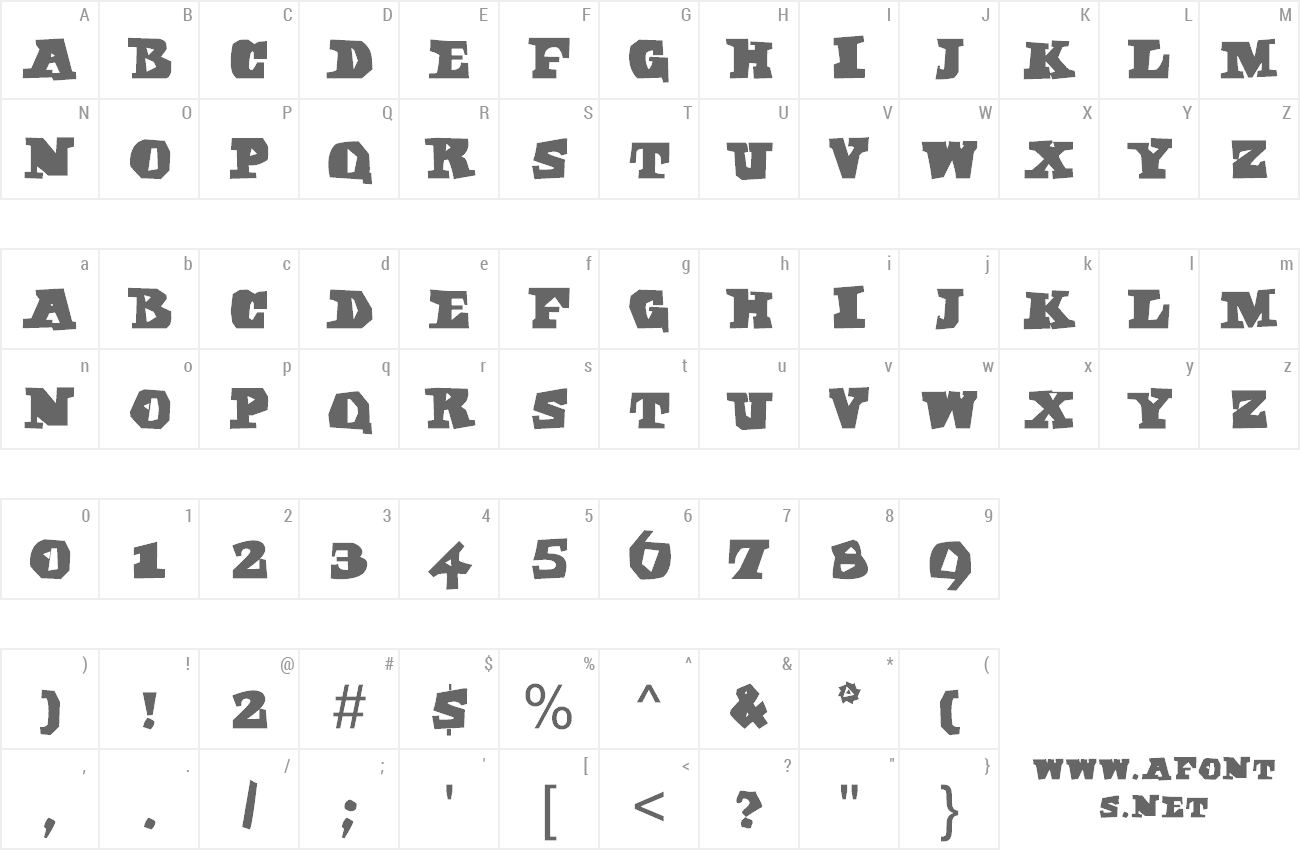 Font Egypt Axt preview
