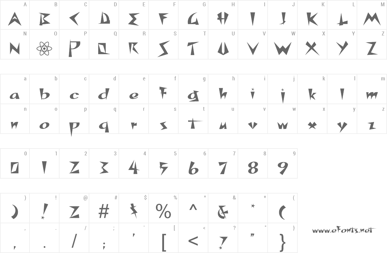 Font Space Patrol preview