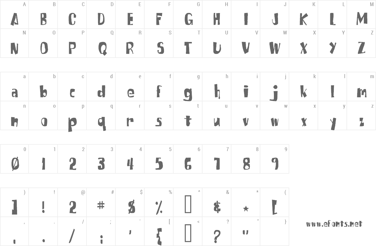 Font SpongeFont Square Type preview