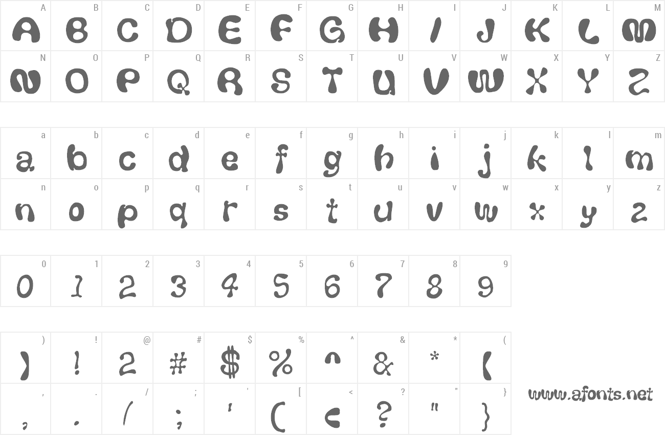 Font Thickhead preview