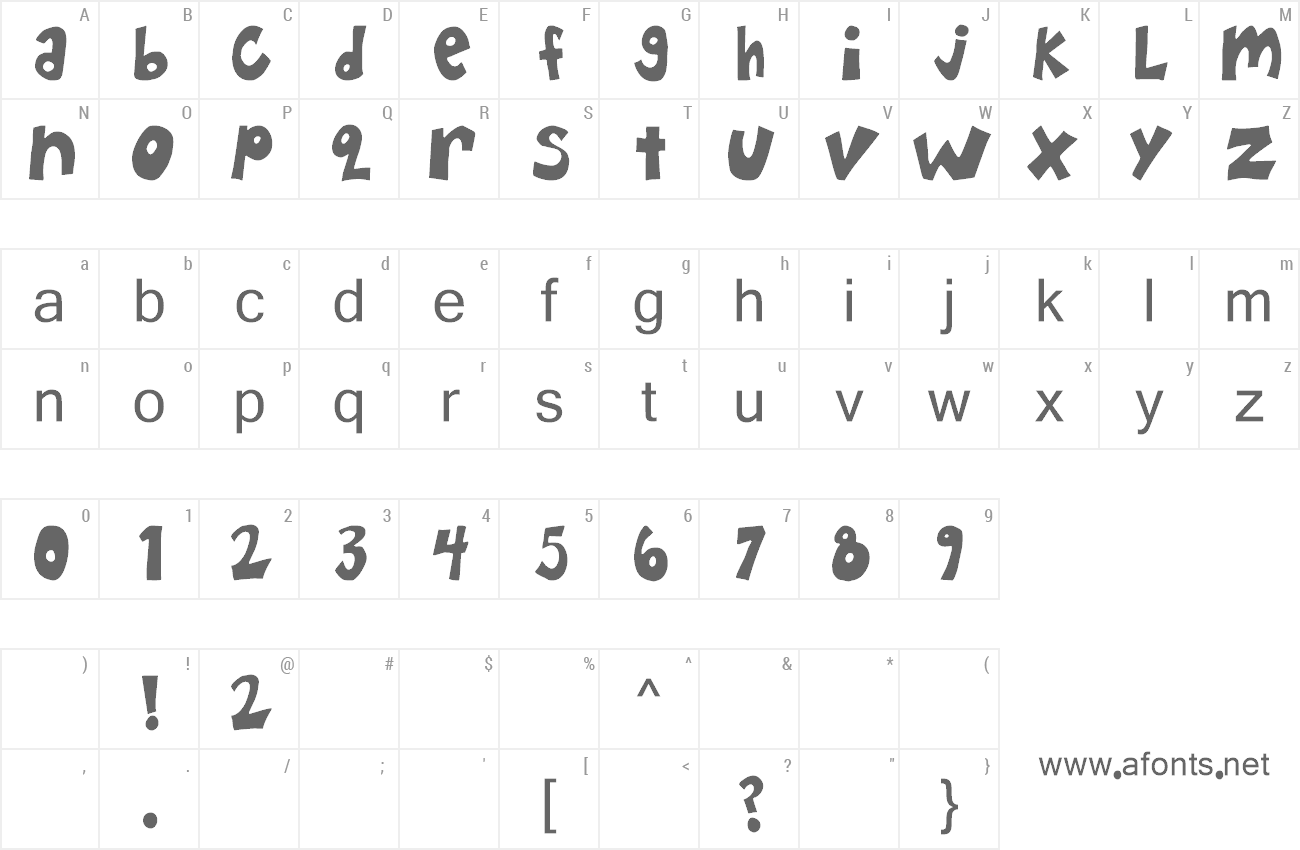 Font Happy Hero preview