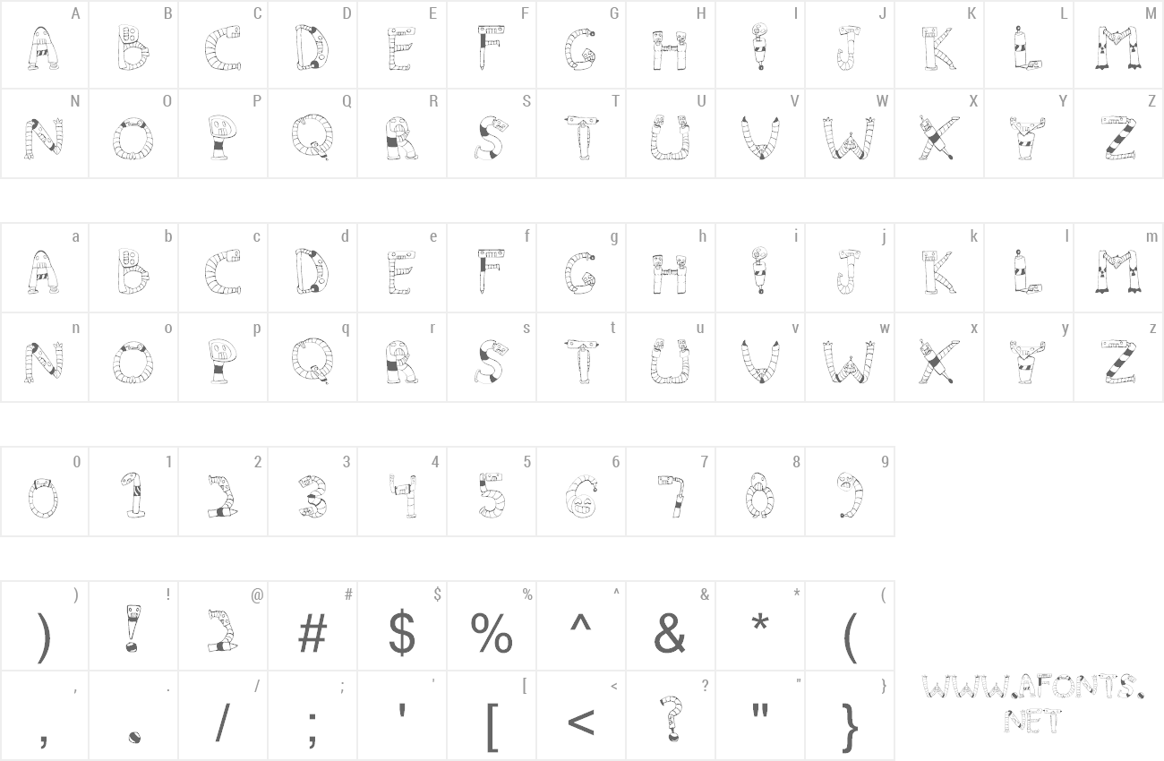 Font Clink Clank preview