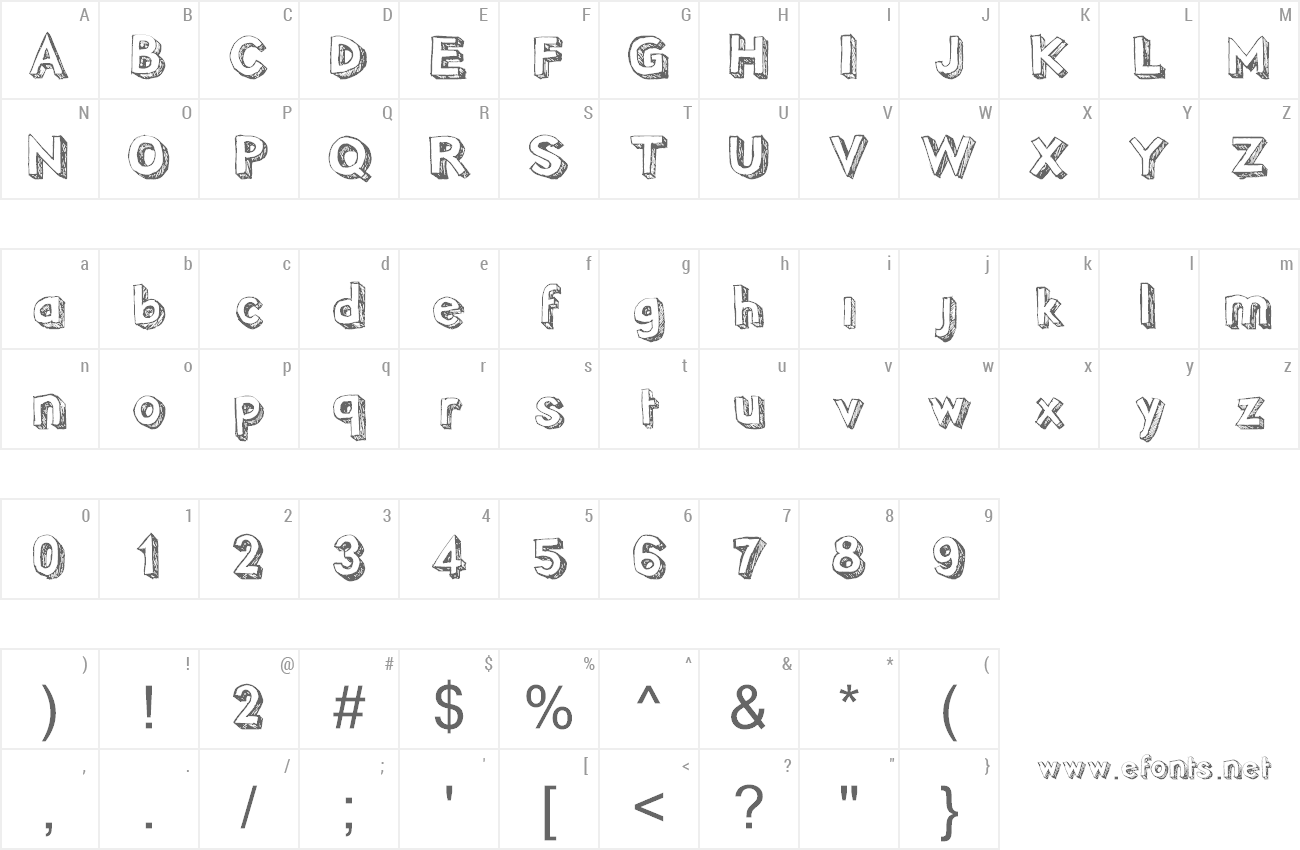 Font Pointy preview