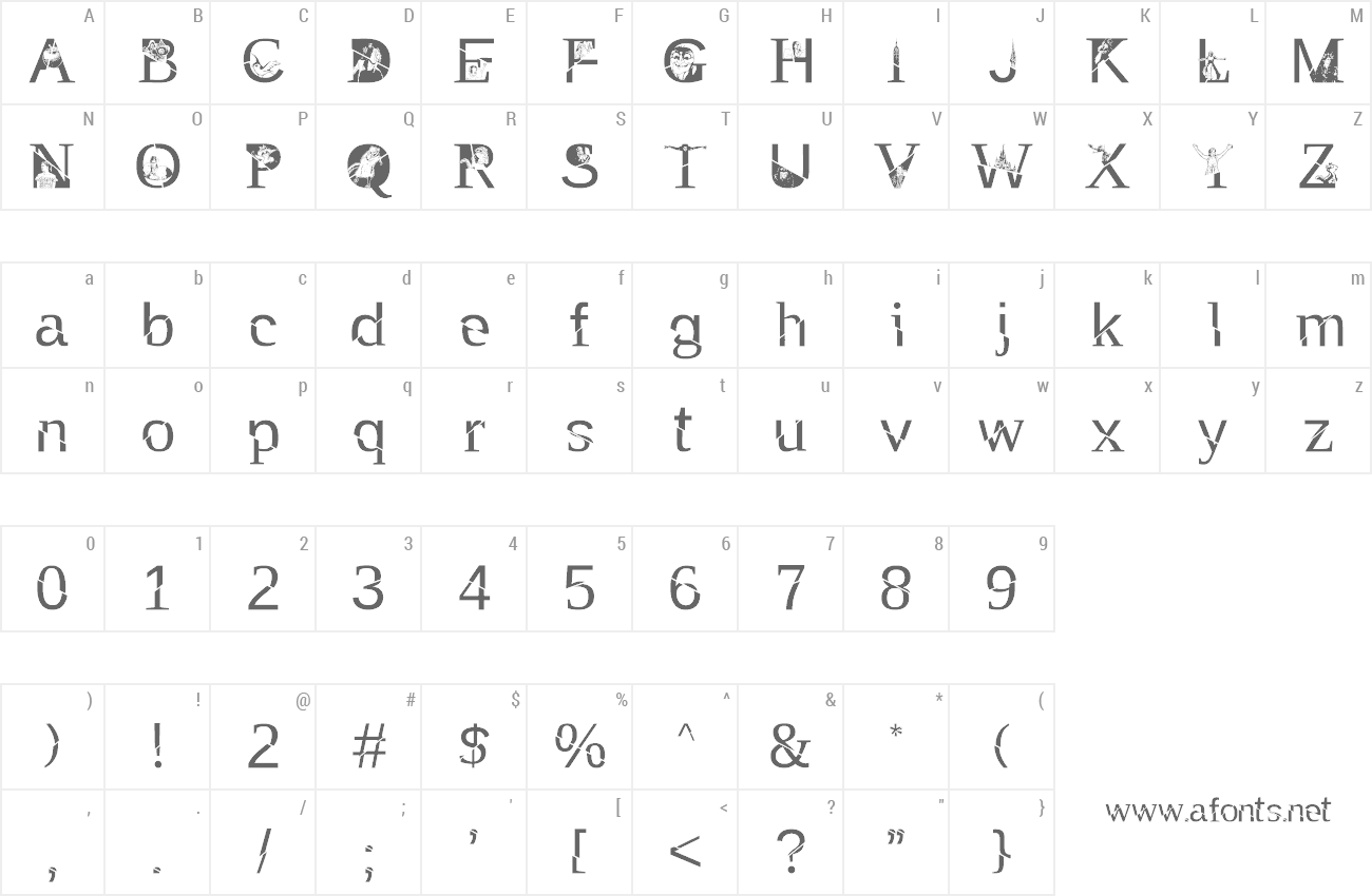 Font TAK Enchanted preview