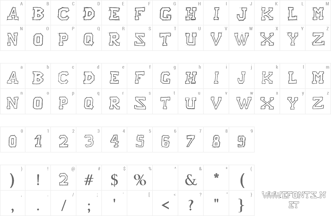 Font Raslani American Letters preview