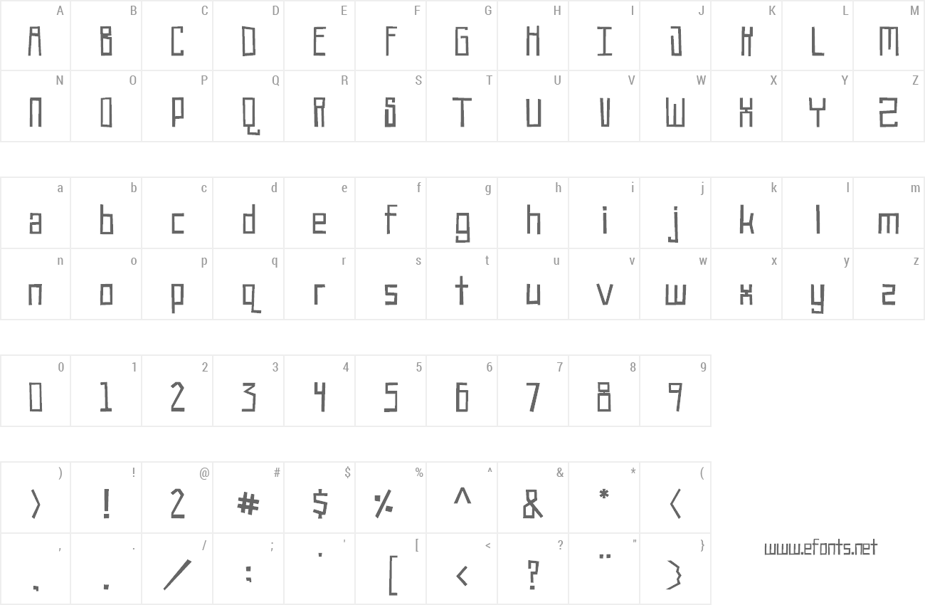 Font Robot!Head preview