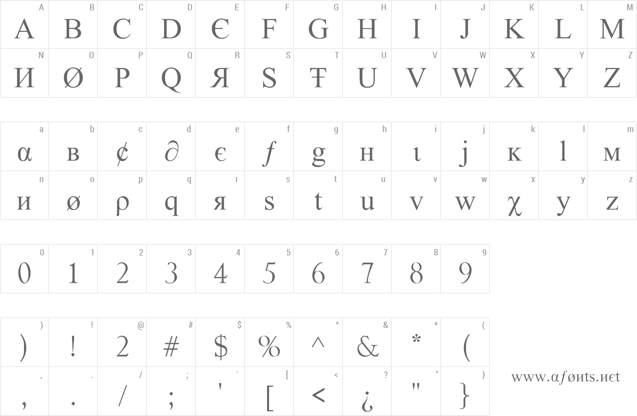 Font Tiboo 5 font preview