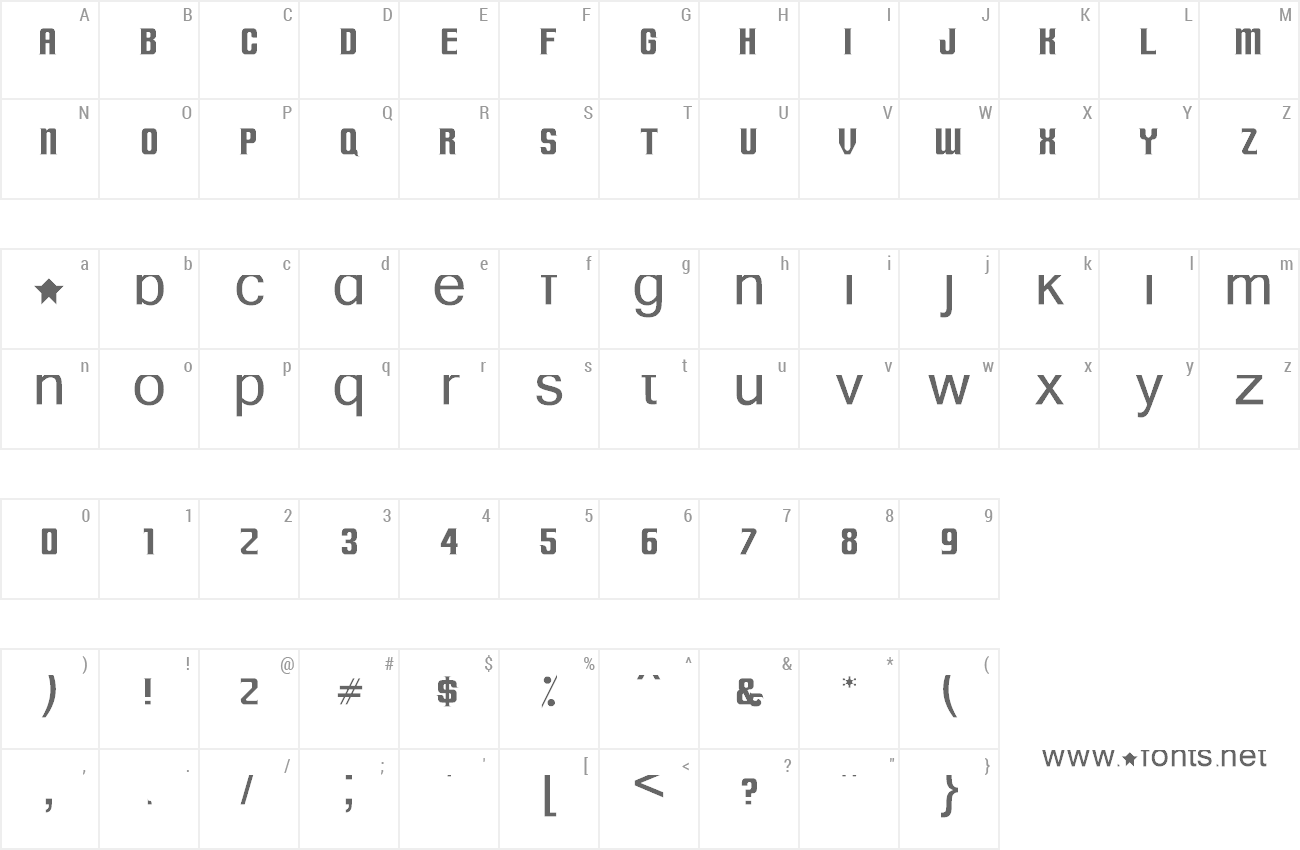 Font Terminally Chisseled preview