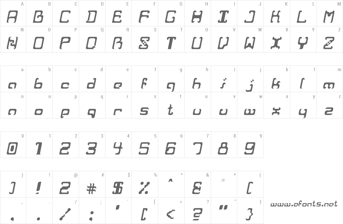 Font Reaver preview