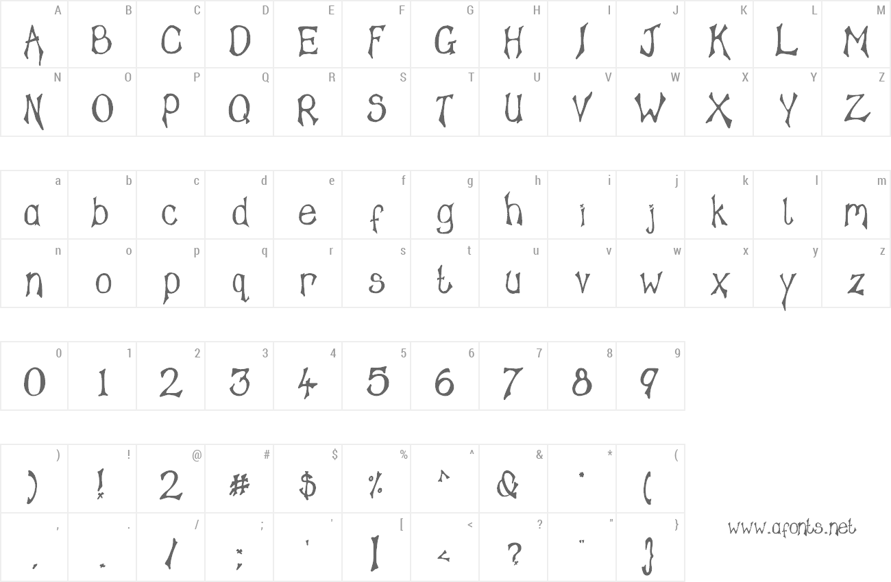 Font Tampy's Font preview