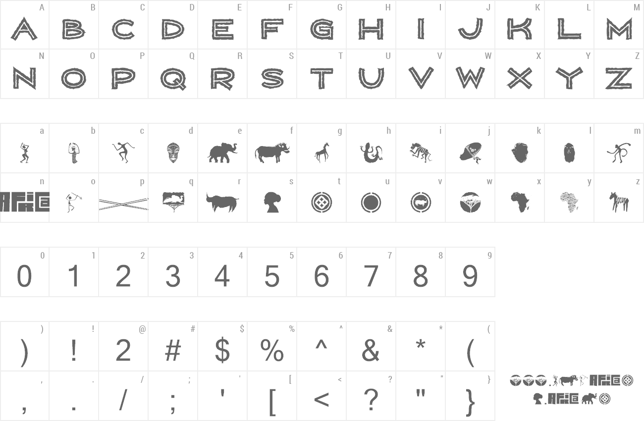 Font Wild Africa preview
