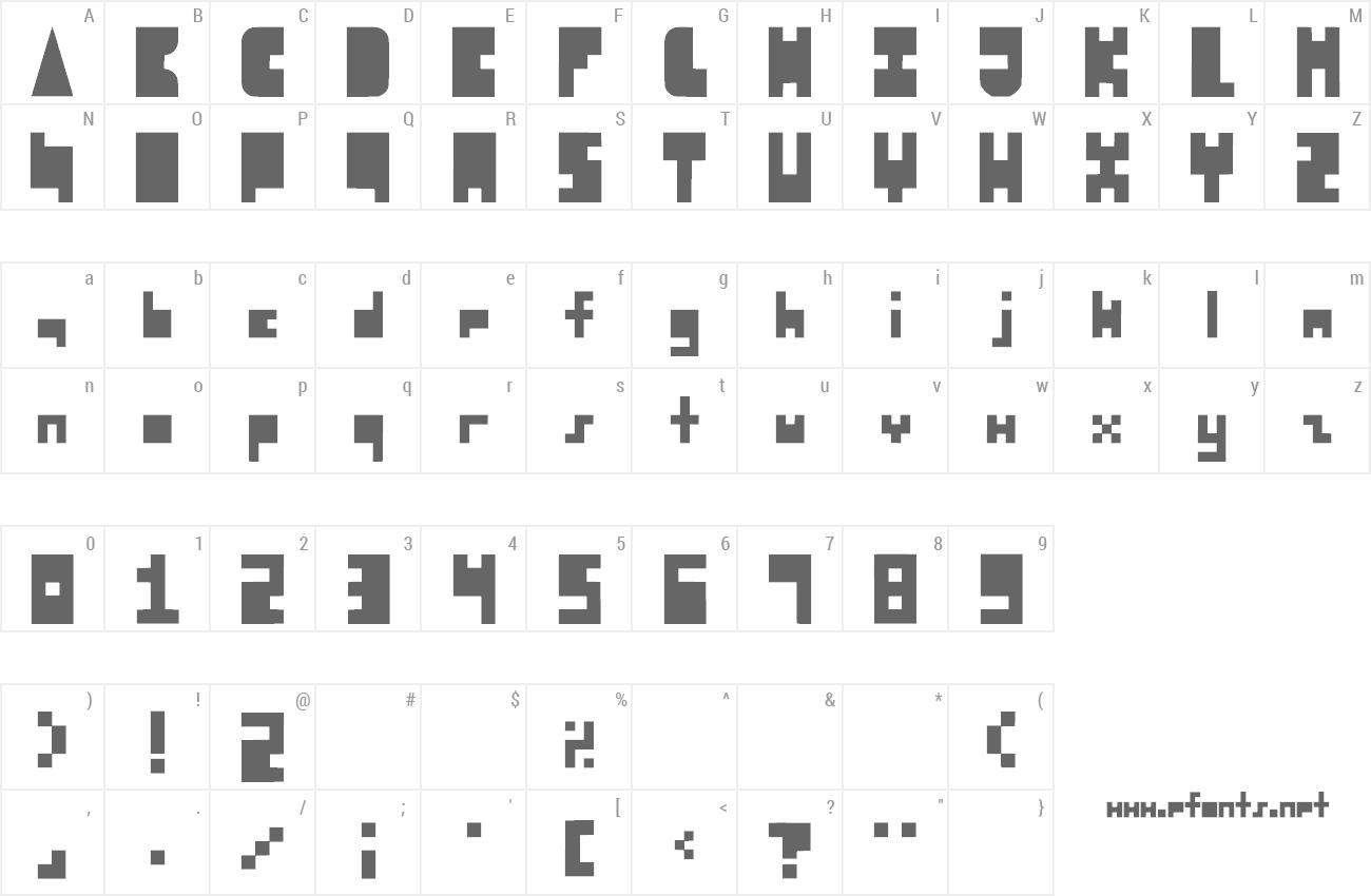 8-bit Block Party Font