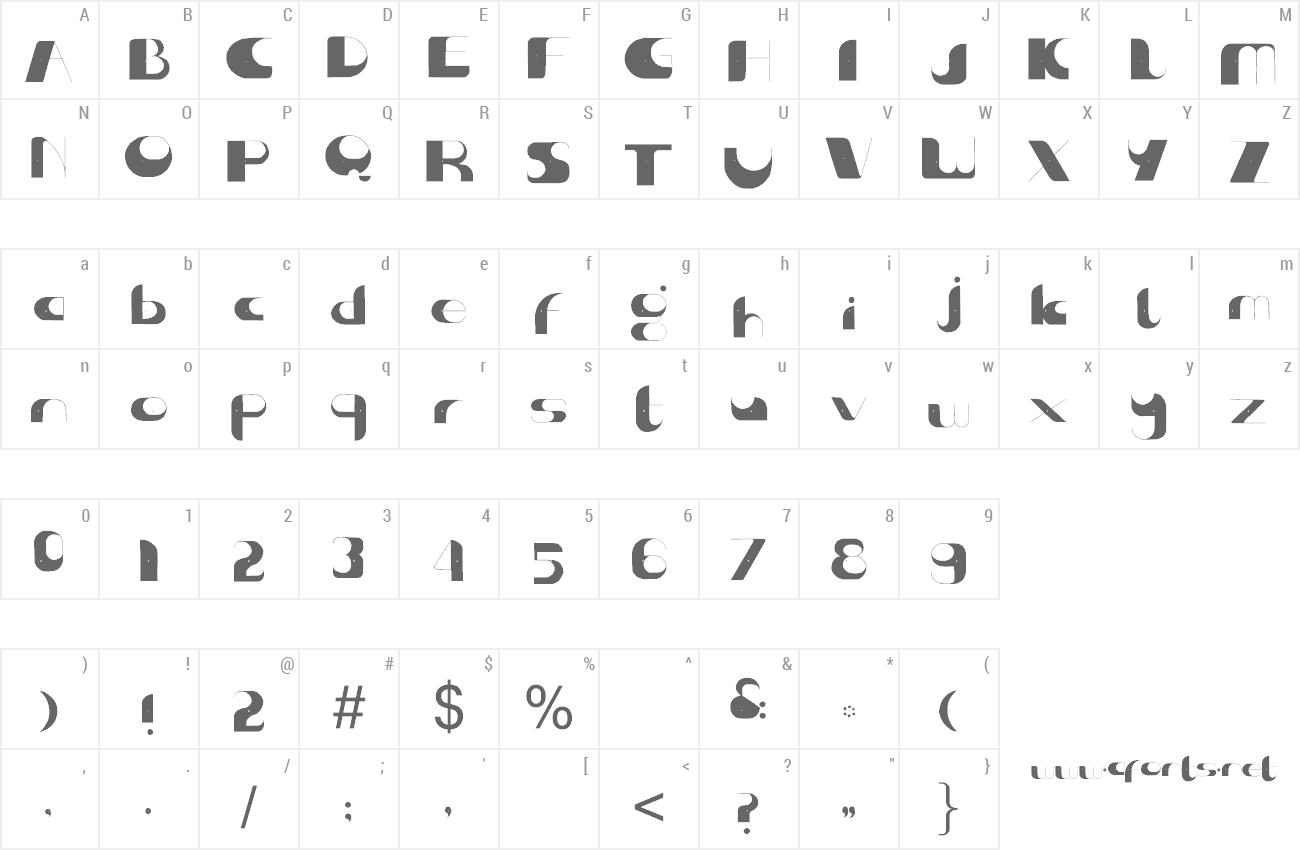 Font Center of Gravity preview