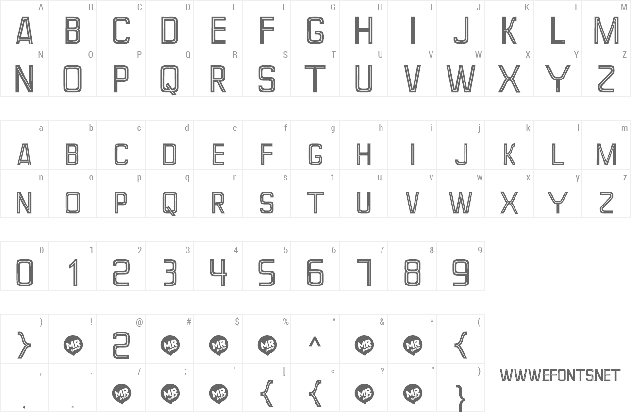 Font Perforama preview