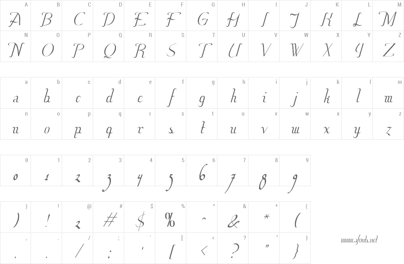 Font Hitalica preview