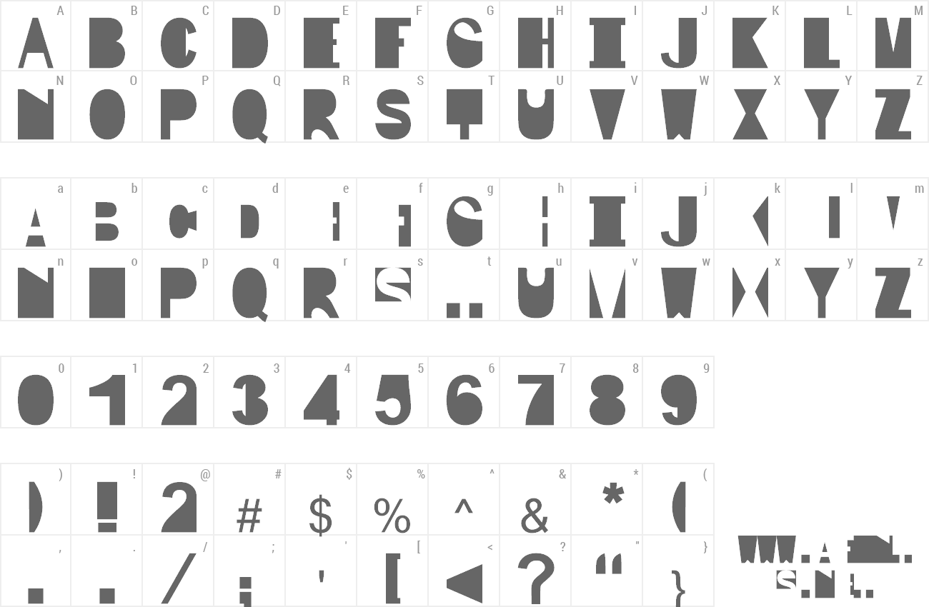 Font IP preview