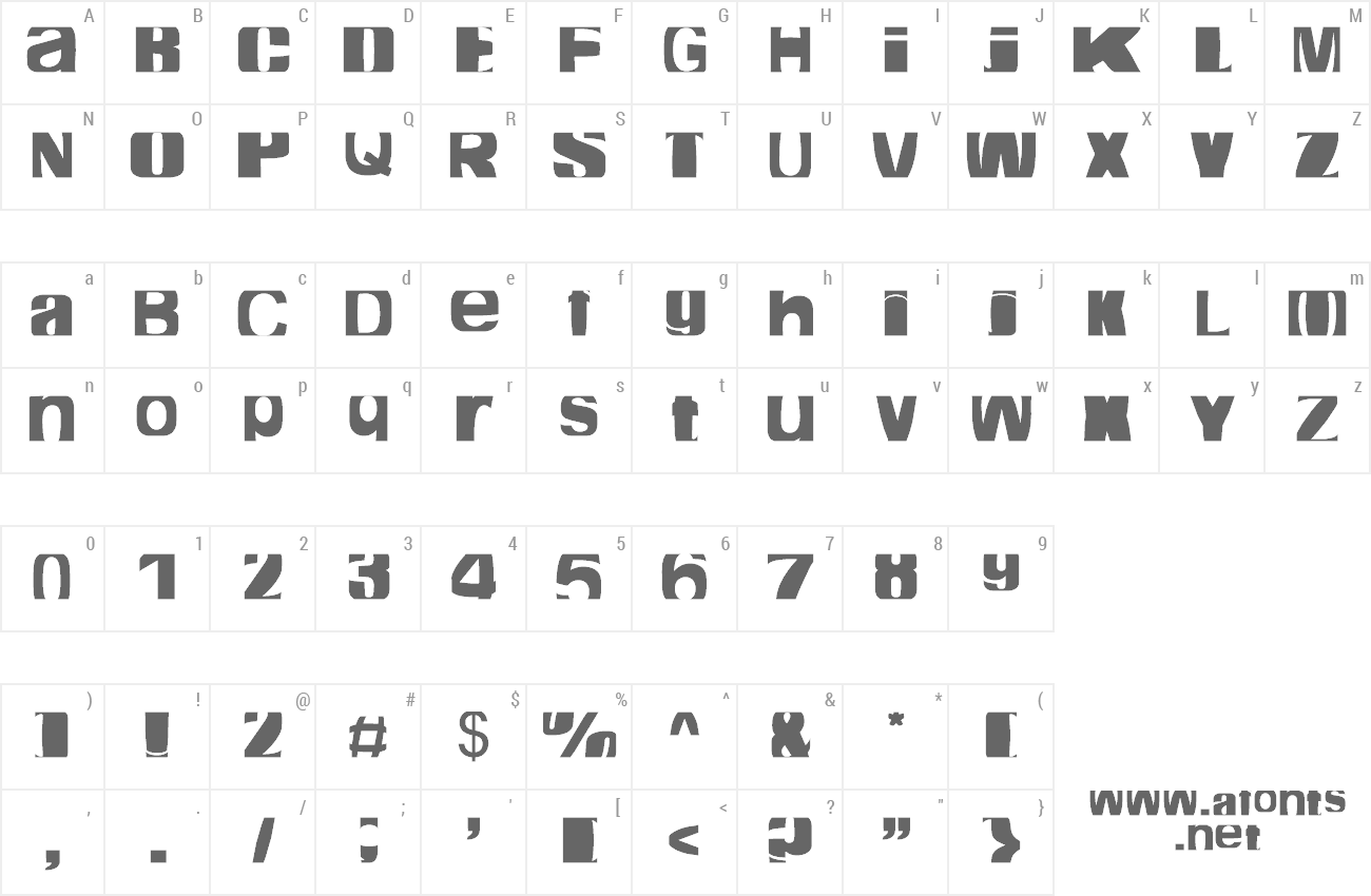 Font Cropfont Expanded preview