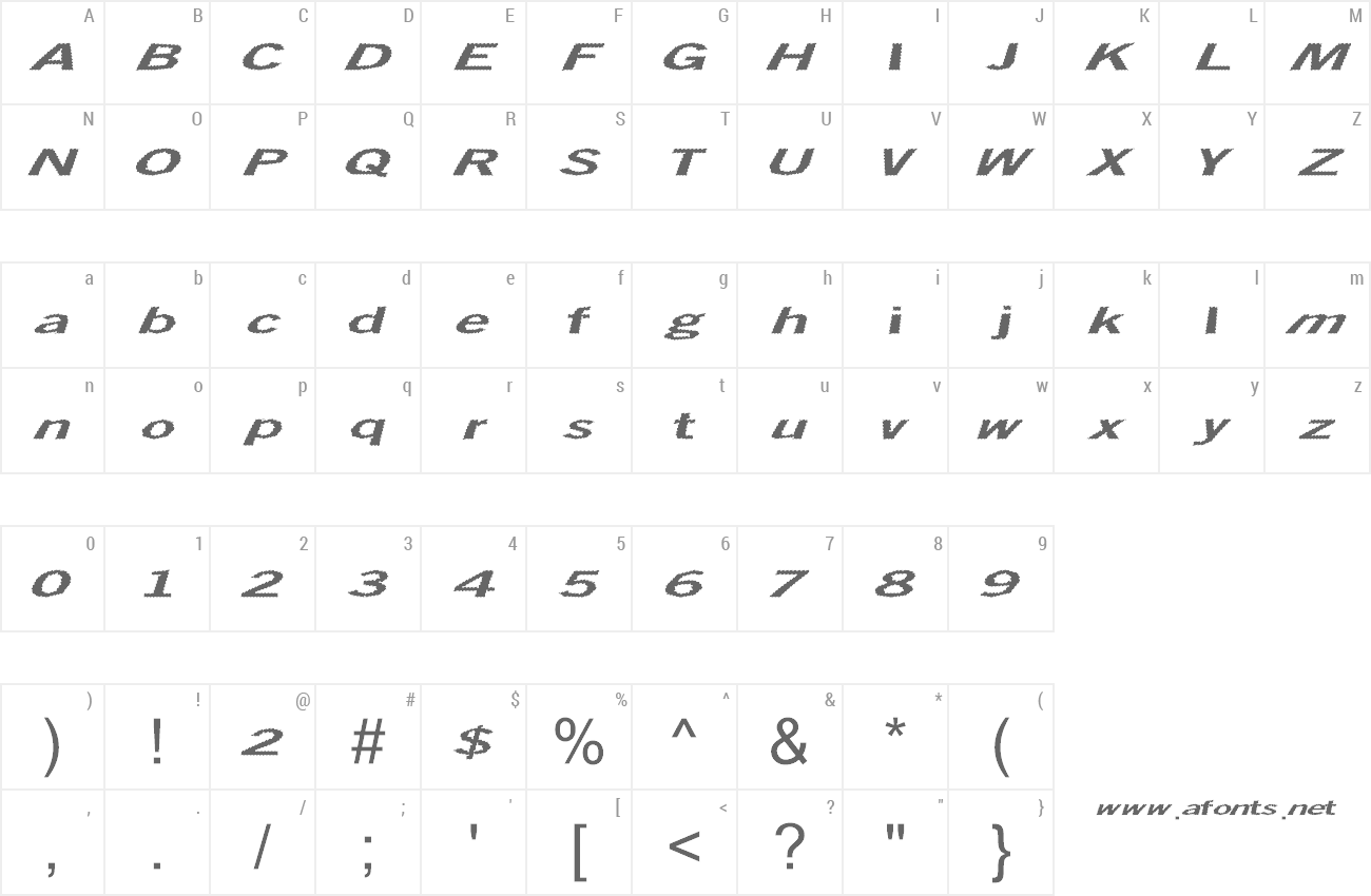 Font Total Shock preview
