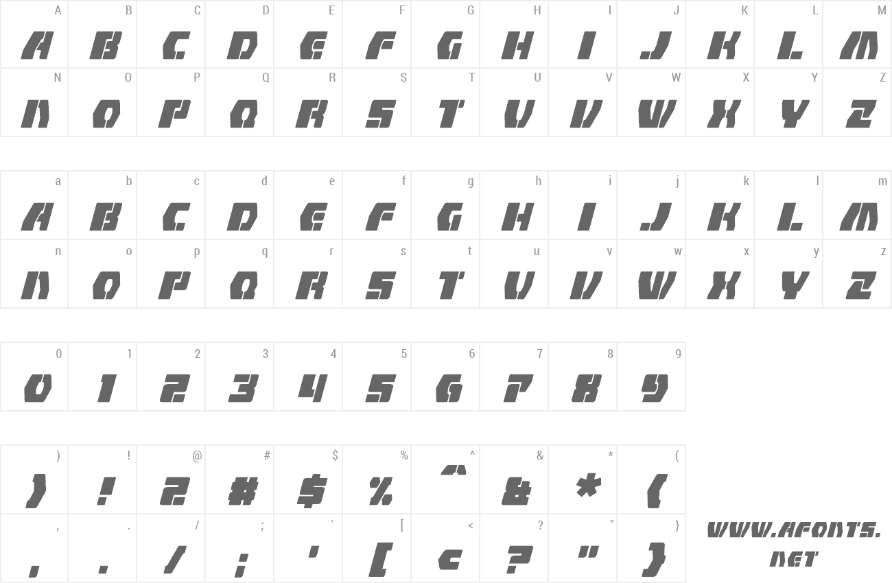 Font Counterfire preview