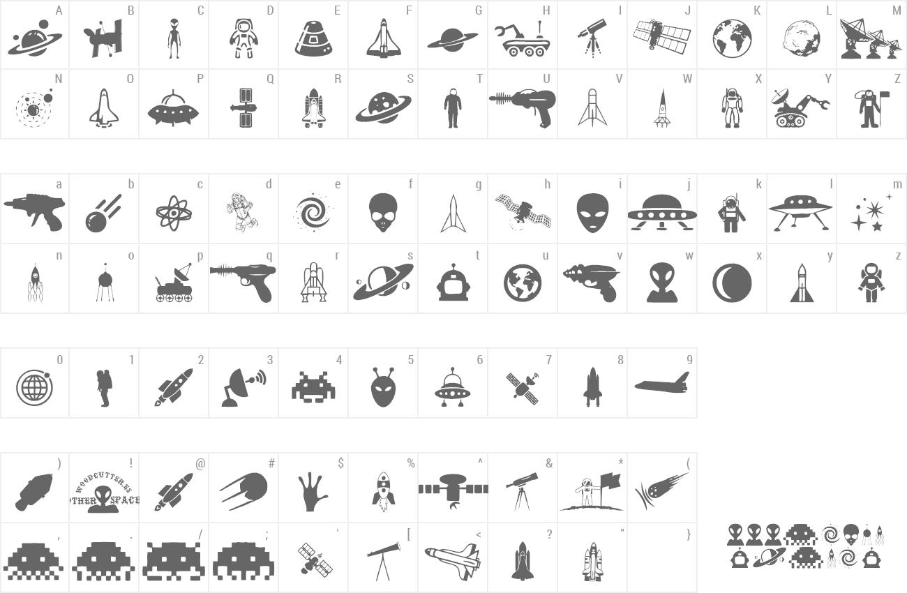 Alien font themes woodcutter altavistaventures Image collections
