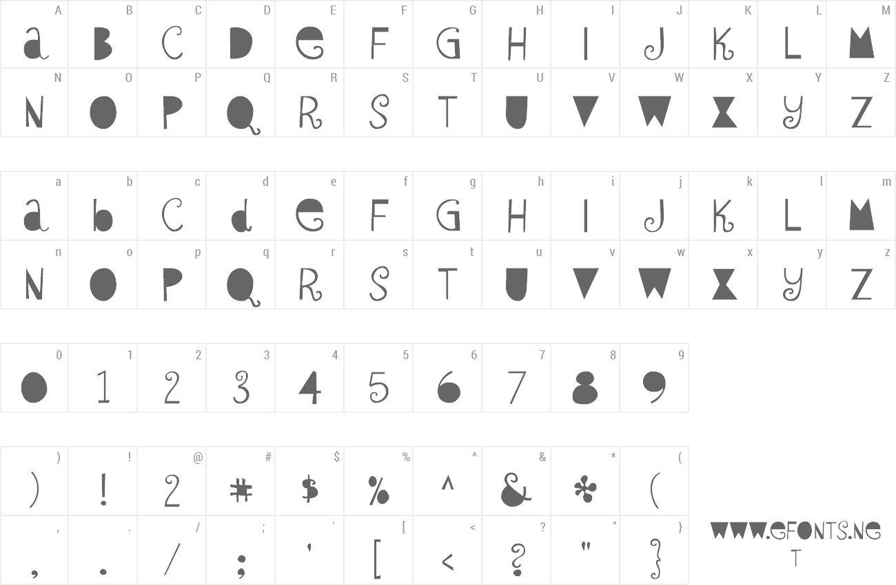 Font Sybil Green preview