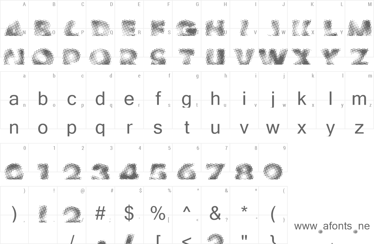 Font Vanished preview