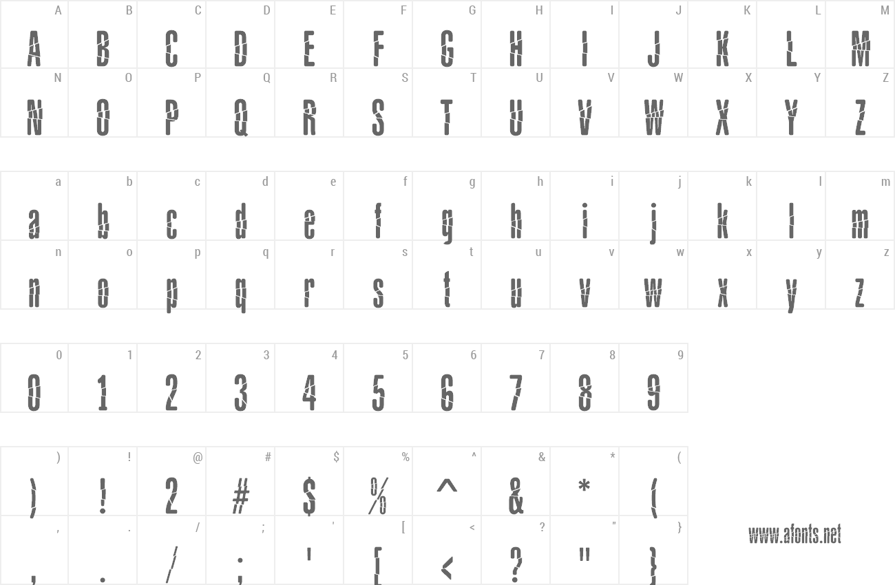 Font Babalusa Cut preview