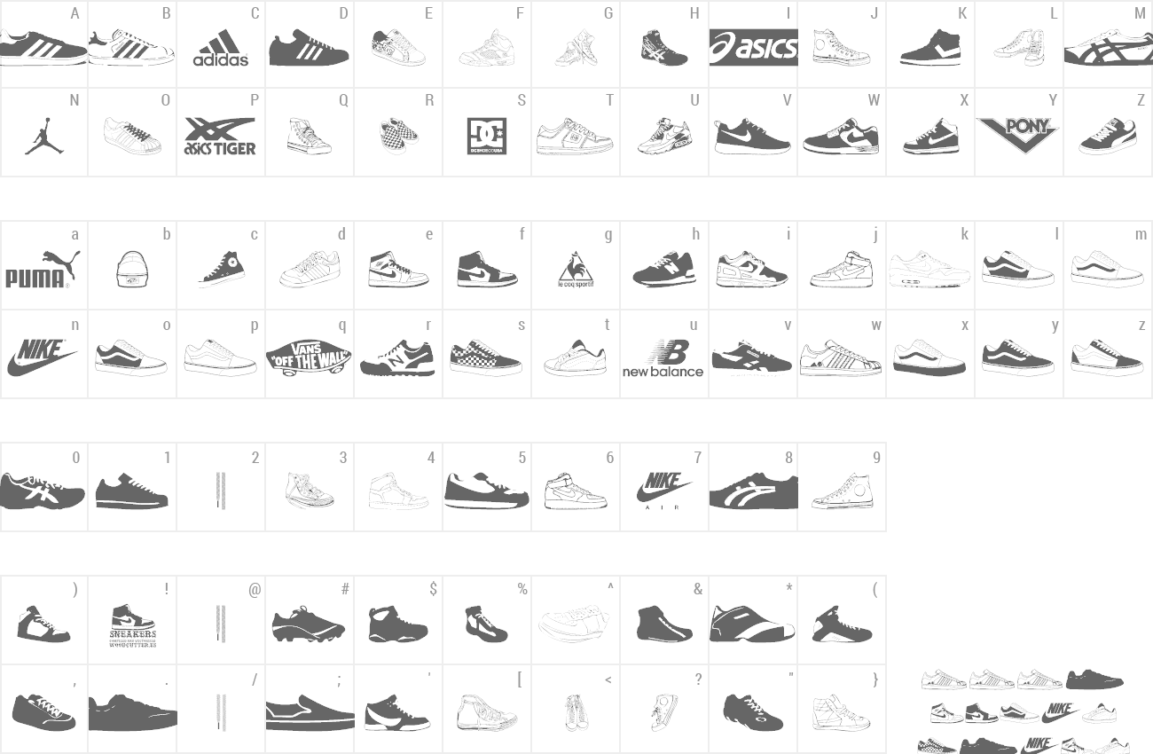 Font Sneakers preview