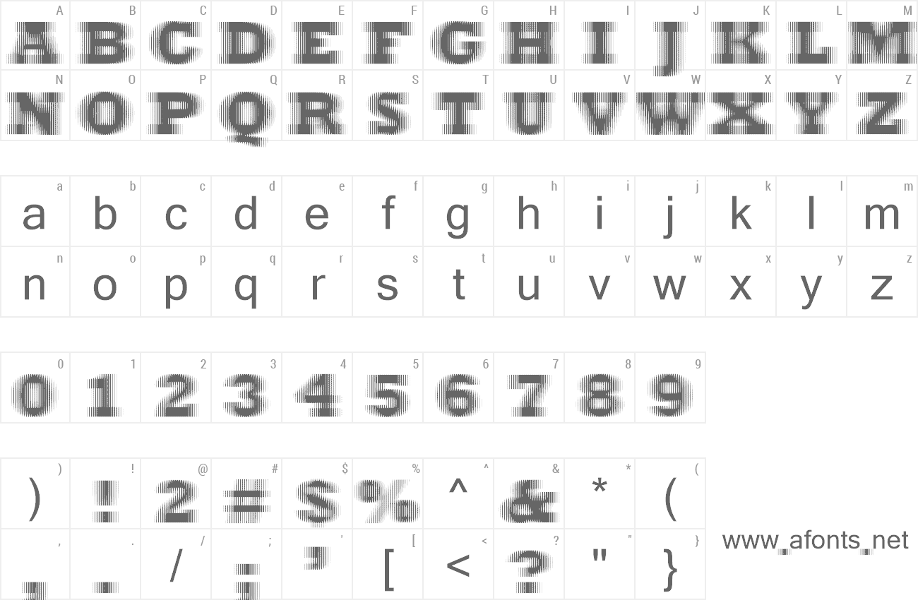 Font ExtraBlur preview