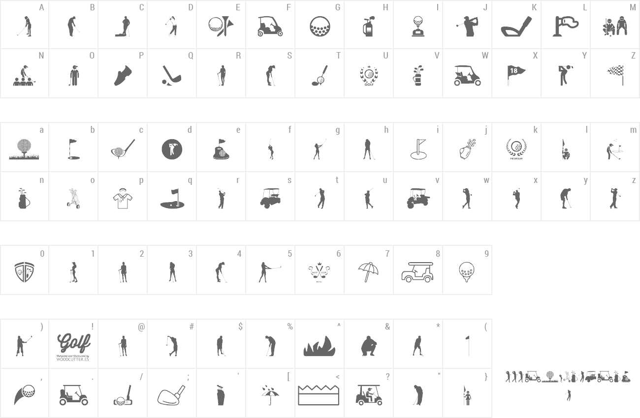 Font Golf Icons preview
