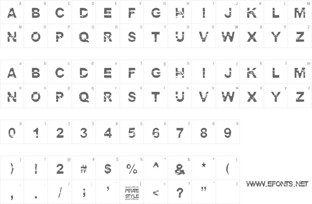 Font Pirate Style preview