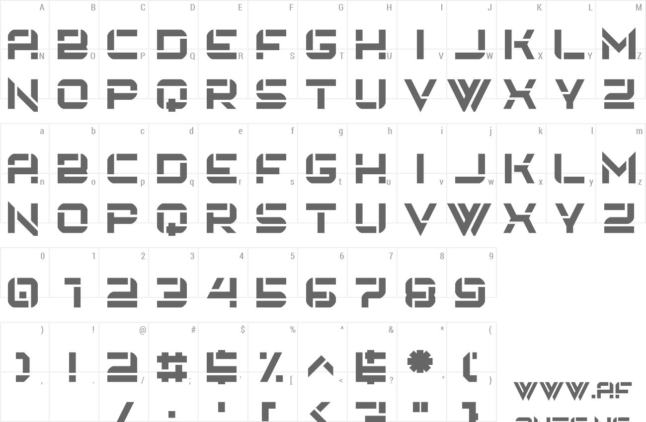 Font Embryonic World preview