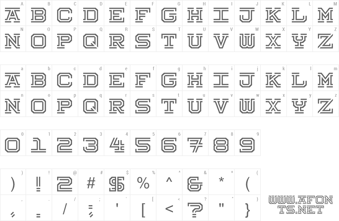Font Hokjesgeest preview