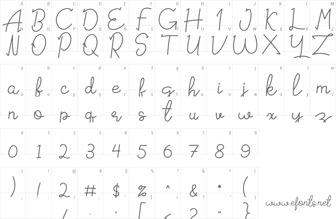 Font Signattured preview