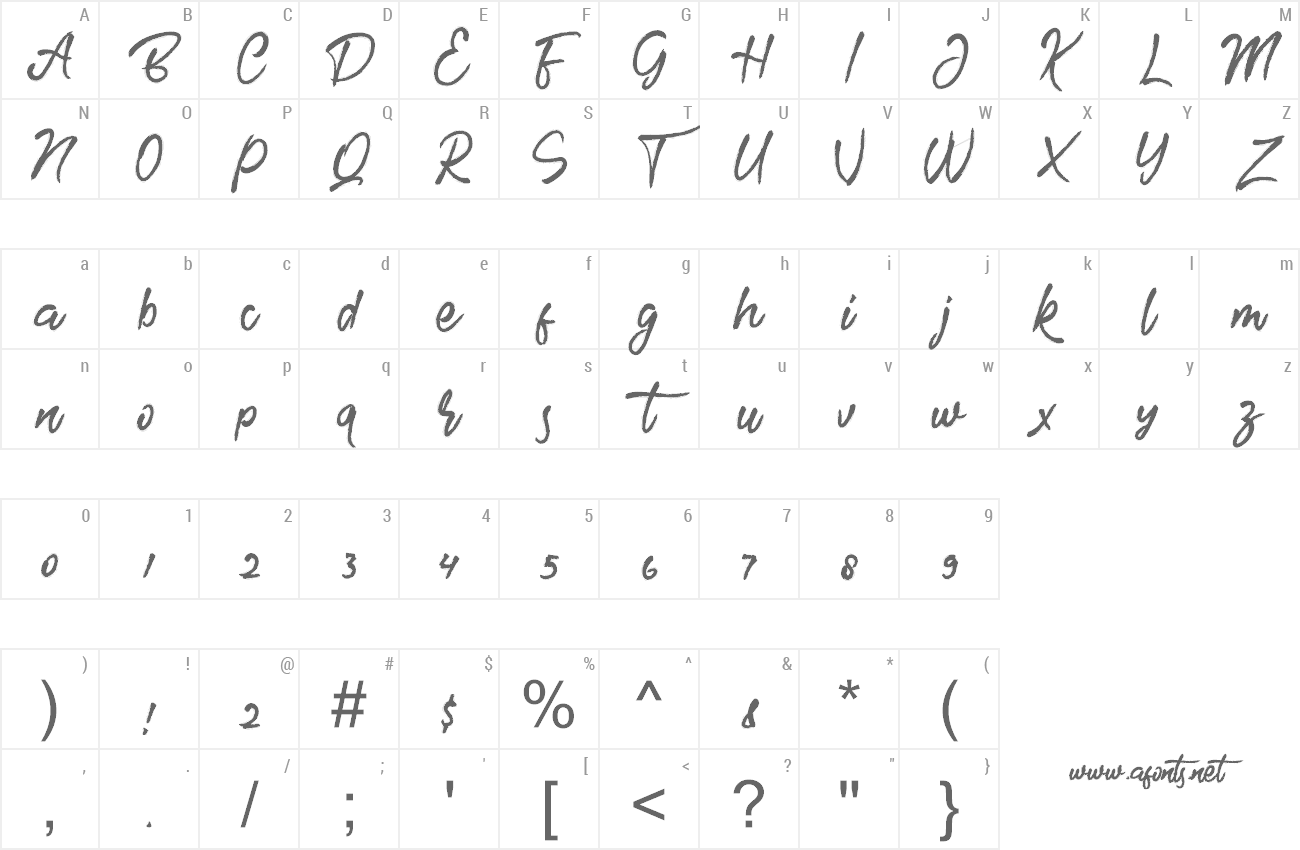 Font Brother preview
