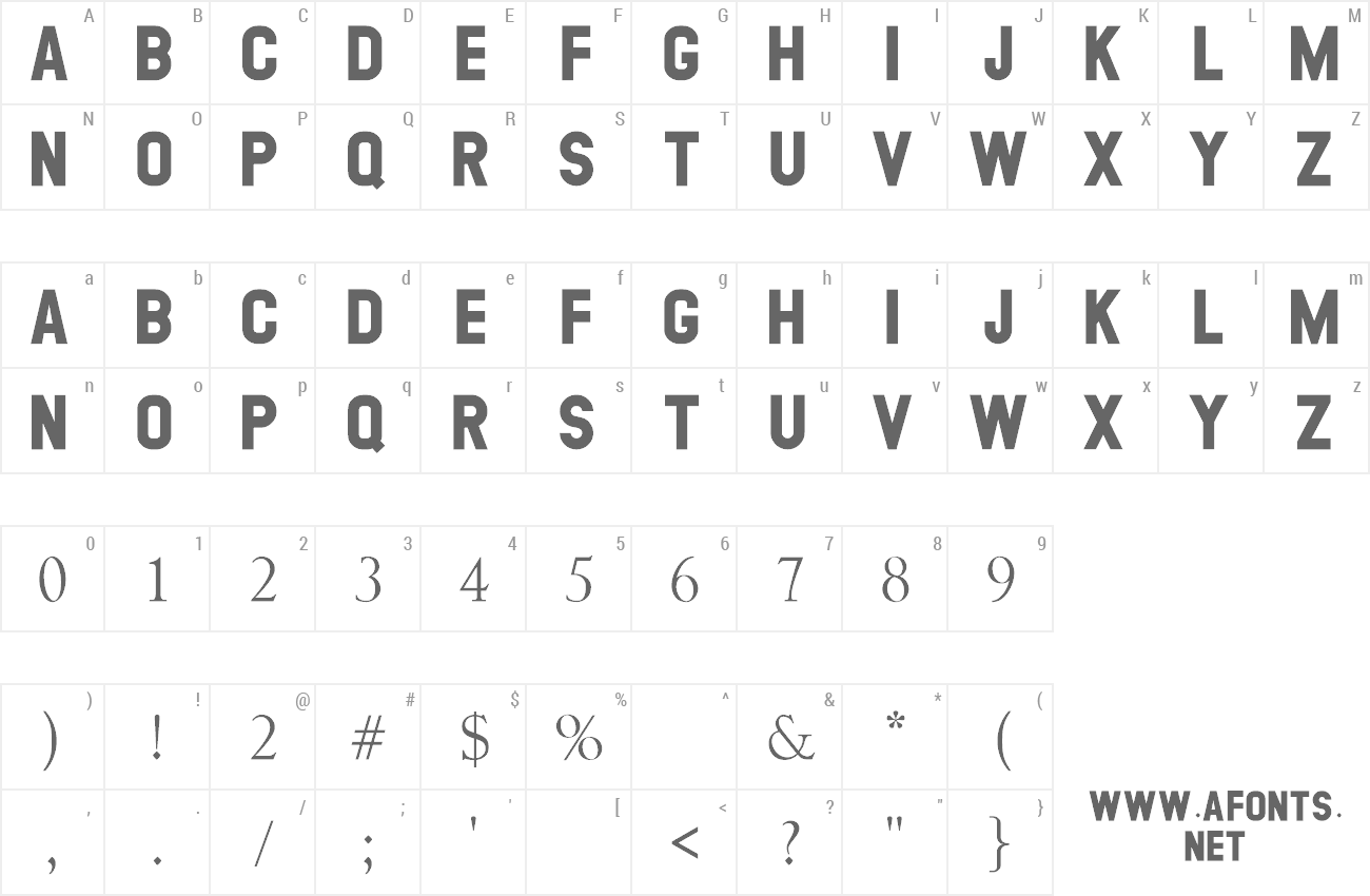 Font Georgea preview