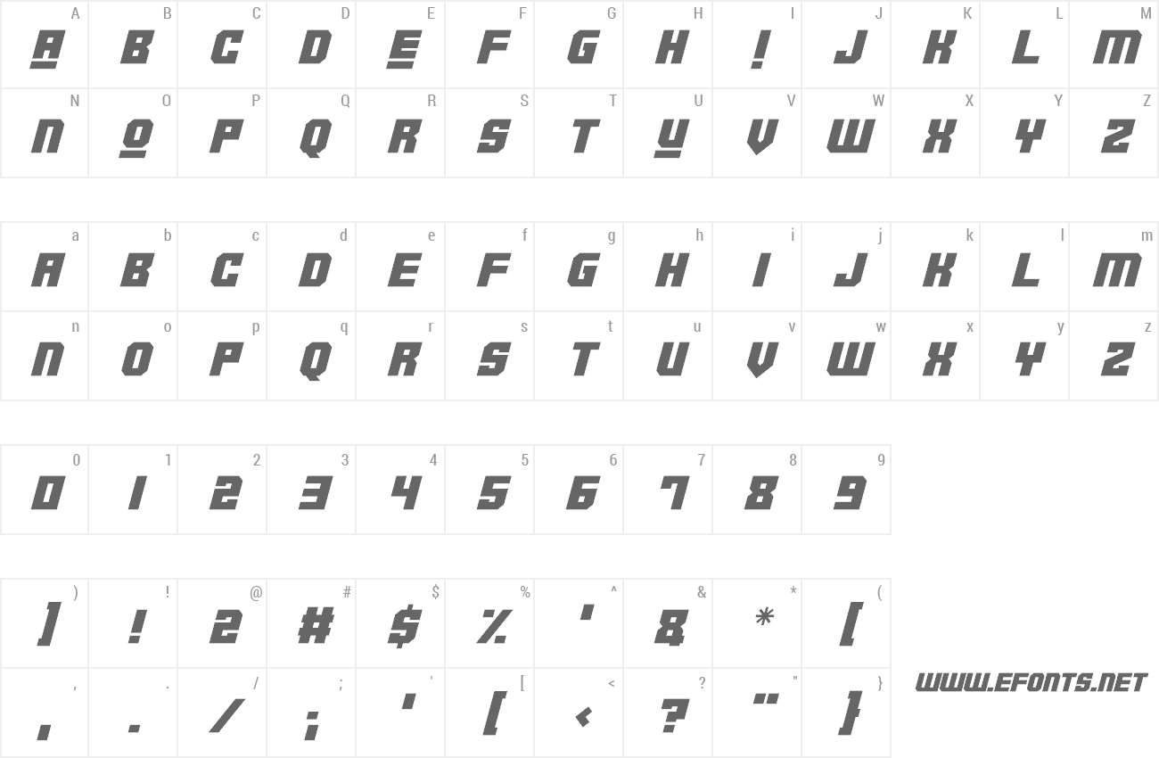 Font Robotronica preview