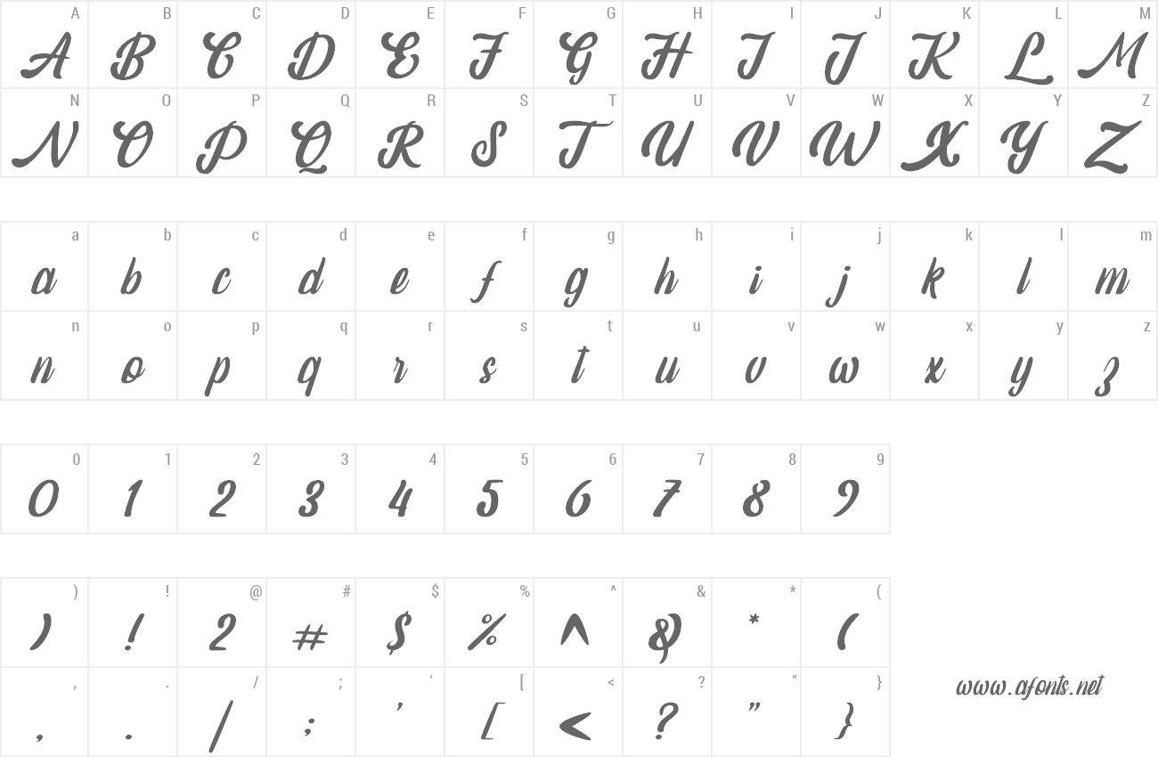 Font Amaranthine preview