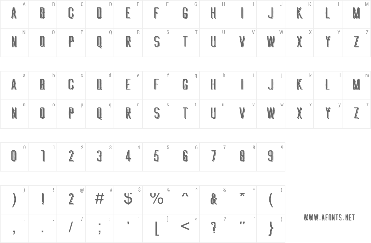 Font Greething preview