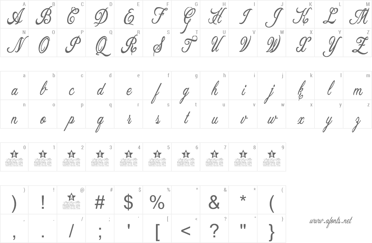 Font Allicia preview