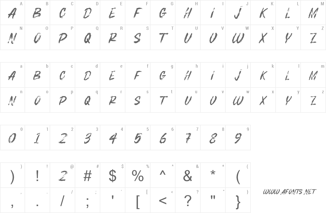 Font Bosthon Brush preview